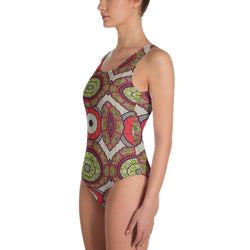Modern Red One-Piece Swimsuit XS