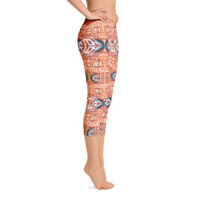 Orange Blossom Capri Leggings