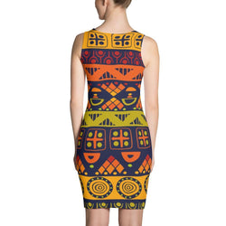 Orange & Yellow Tribal Dress XS