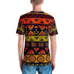 Orange & Yellow Tribal Men's Crew Neck XS