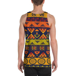 Orange & Yellow Tribal Men's Tank XS