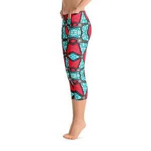 Pink Kaleidoscope Capri Leggings