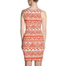 Red Tribal Dress XS