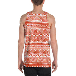 Red Tribal Men's Tank XS