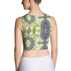 Traditional Lime Green Crop Top XS