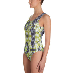 Traditional Lime Green One-Piece Swimsuit XS
