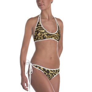 Luxury Gold- Leopard Bikini White / XS