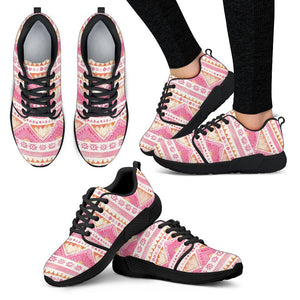 Luxury Pink- Sunset Women's Sneakers Women's Athletic Sneakers - Black - B / US5 (EU35)