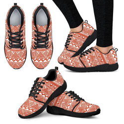 Red Tribal Women's Sneakers Women's Athletic Sneakers - White - W / US5 (EU35)
