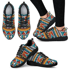 Triangle Tribal Women's Sneakers Women's Athletic Sneakers - White - W / US5 (EU35)