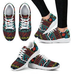 Aqua Tribal Women's Sneakers Women's Athletic Sneakers - White - W / US5 (EU35)
