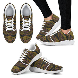 Crocodile Green Women's Sneakers Women's Athletic Sneakers - White - W / US5 (EU35)