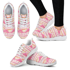 Luxury Pink- Sunset Women's Sneakers Women's Athletic Sneakers - White - W / US5 (EU35)