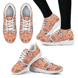 Orange Blossom Women's Sneakers Women's Athletic Sneakers - White - W / US5 (EU35)
