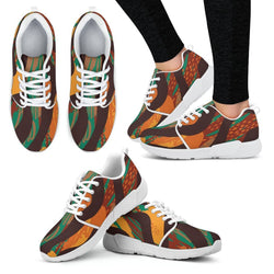 Safari Stripe Women's Sneakers Women's Athletic Sneakers - White - W / US5 (EU35)