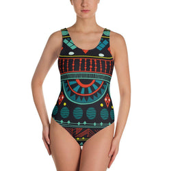 Aqua Tribal One-Piece Swimsuit XS