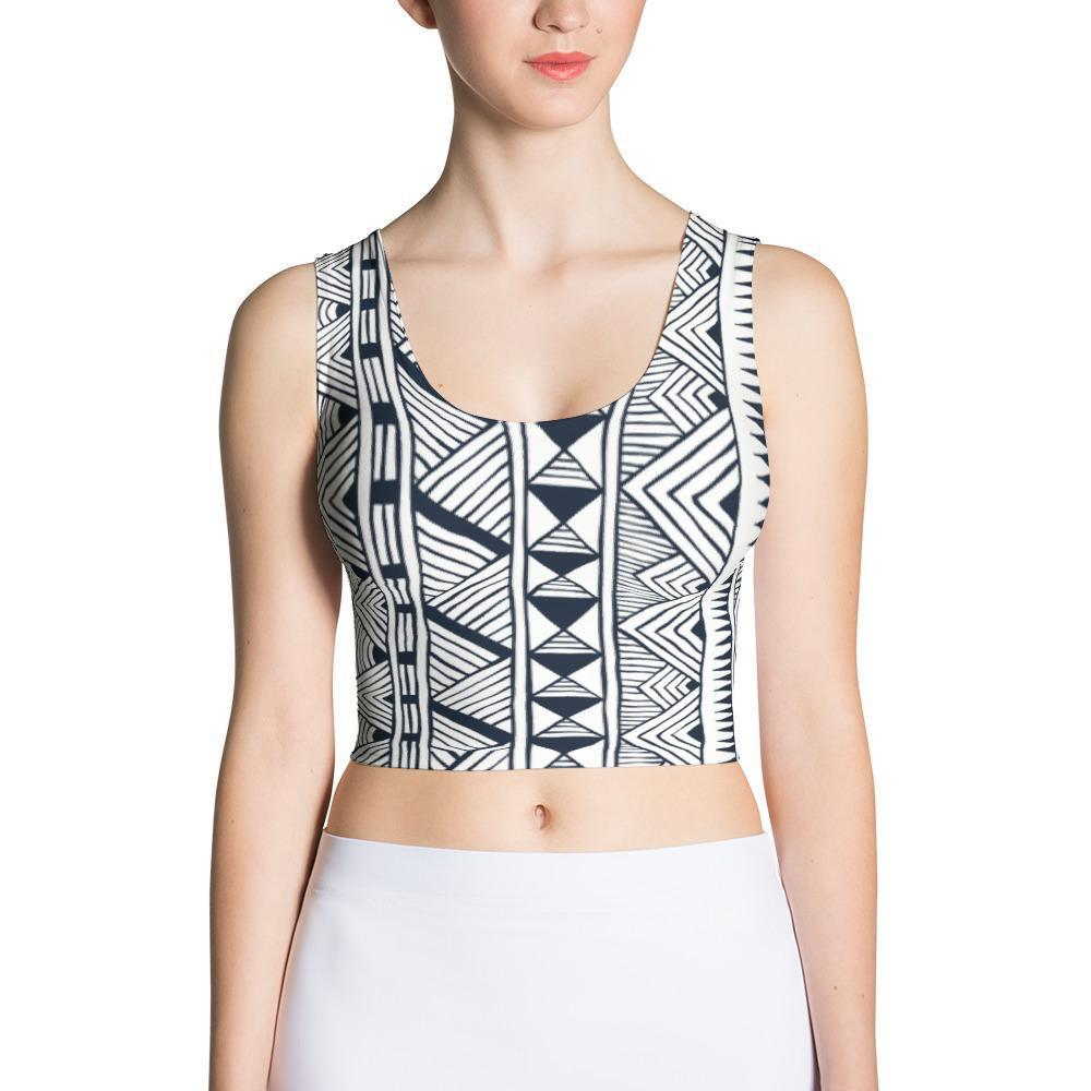 Black Tribal Crop Top XS