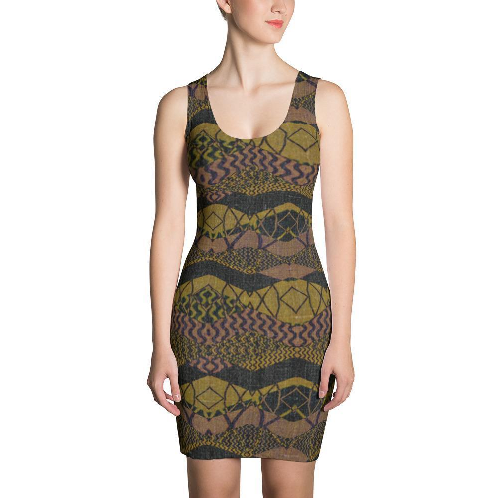 Crocodile Green Dress XS