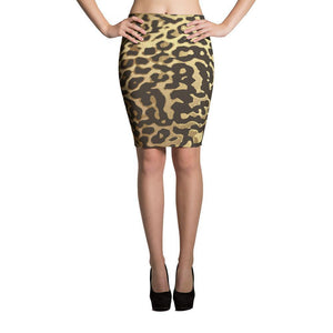 Luxury Gold- Leopard Pencil Skirt XS