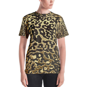 Luxury Gold- Leopard Women's Crew Neck XS
