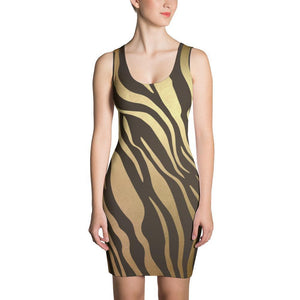 Luxury Gold- Tiger Dress XS