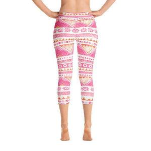 Luxury Pink- Sunset Capri Leggings XS