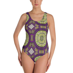 Modern Purple One-Piece Swimsuit XS