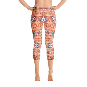 Orange Blossom Capri Leggings XS
