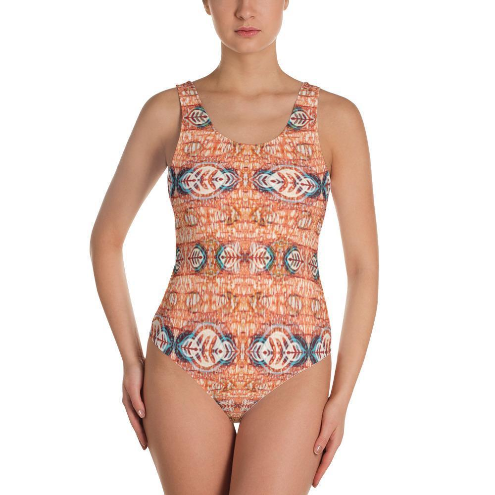 Orange Blossom One-Piece Swimsuit XS