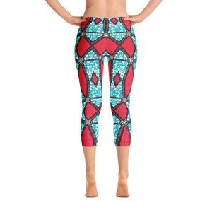 Pink Kaleidoscope Capri Leggings XS