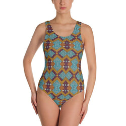 Purple Diamond One-Piece Swimsuit XS