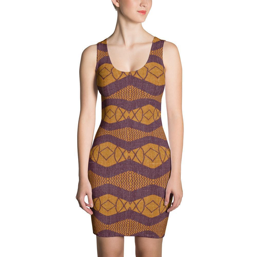 Purple Ripple Dress XS
