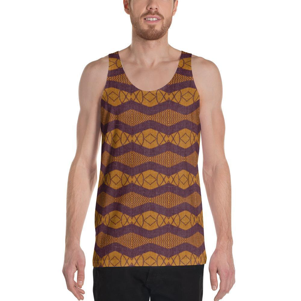Purple Ripple Men's Tank XS