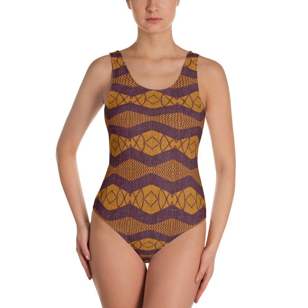 Purple Ripple One-Piece Swimsuit XS