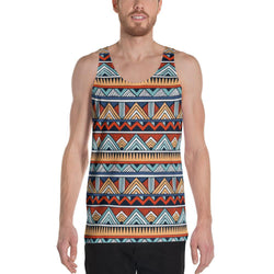 Red & Blue Tribal Men's Tank XS