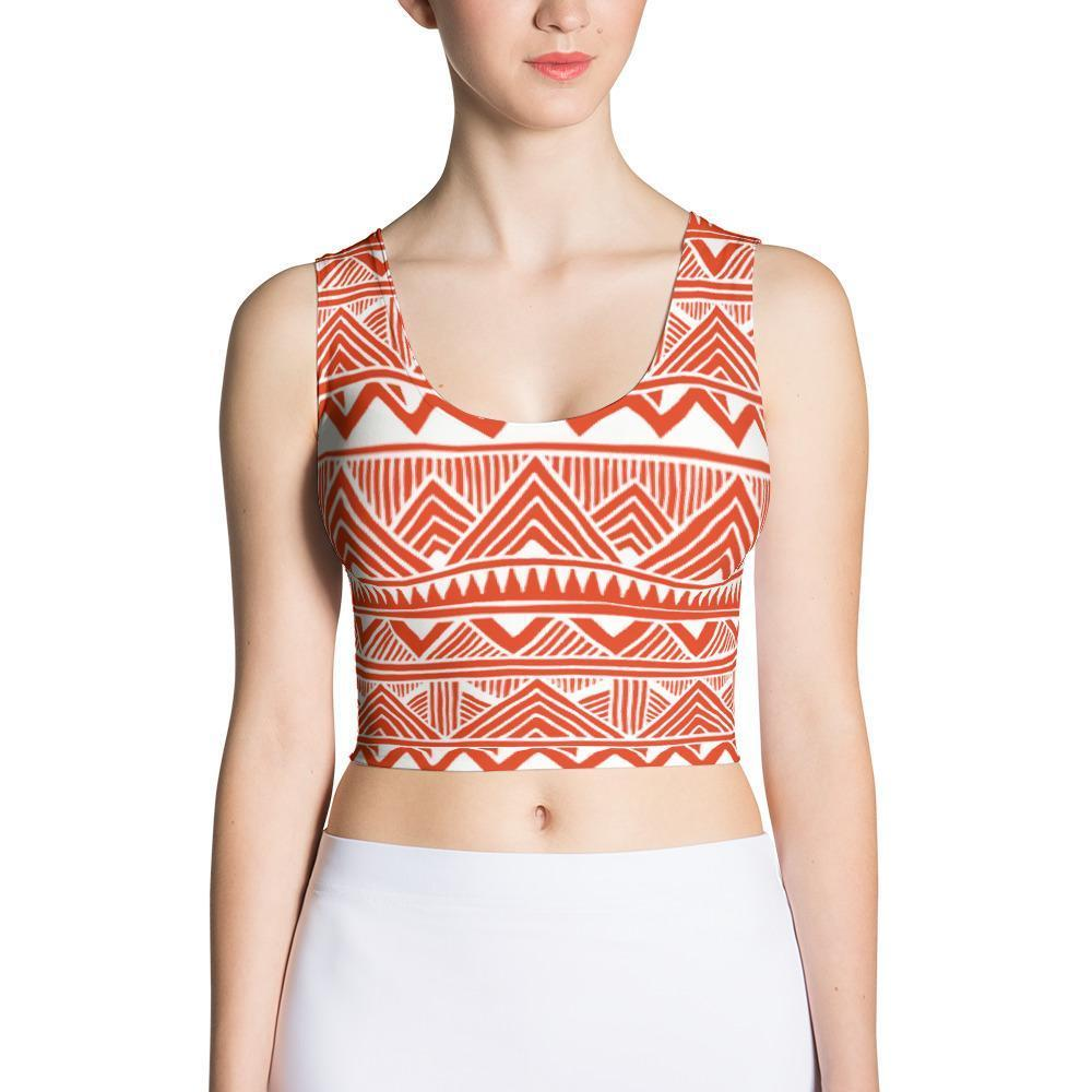 Red Tribal Crop Top XS