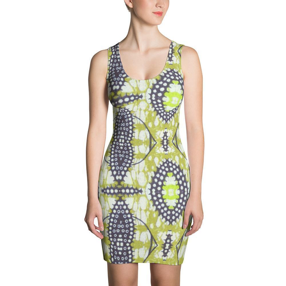 Traditional Lime Green Dress XS