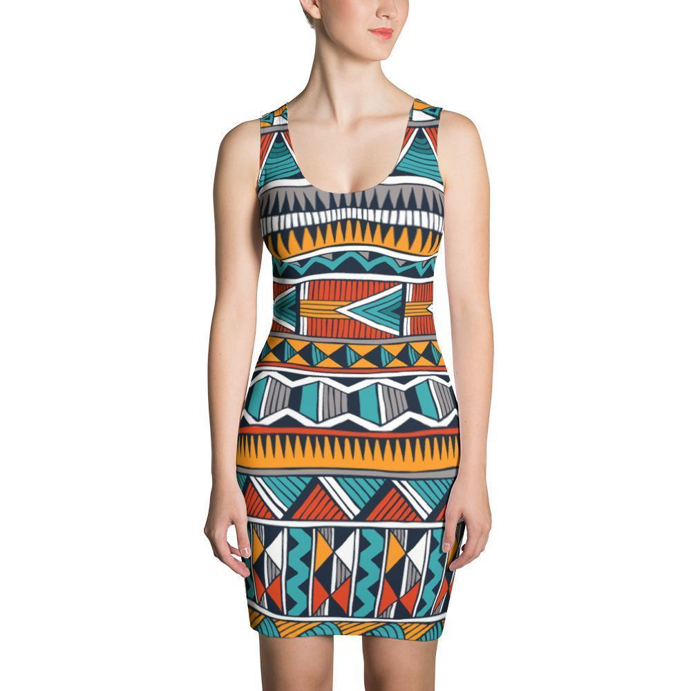 Triangle Tribal Dress XS