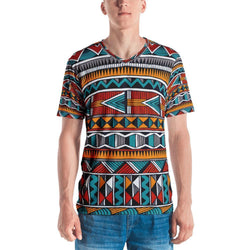 Triangle Tribal Men's V-Neck XS