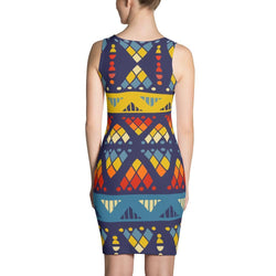 Yellow & Blue Mosaic Dress XS