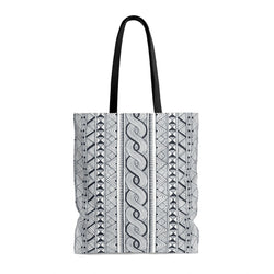 Black Tribal Tote Bags Large