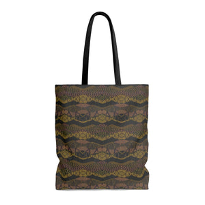 Crocodile Green Tote Bags
