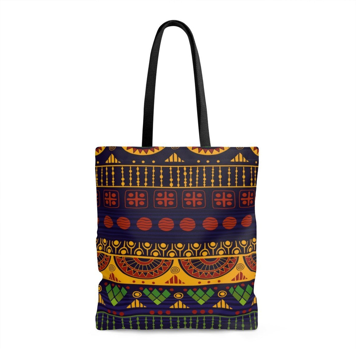 Blue & Yellow Tribal Tote Bags Large