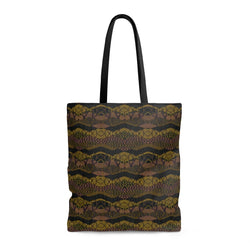 Crocodile Green Tote Bags Large