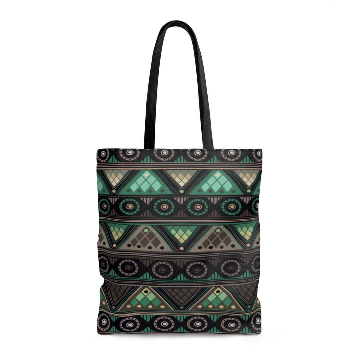 Green Mosaic Tote Bags Large