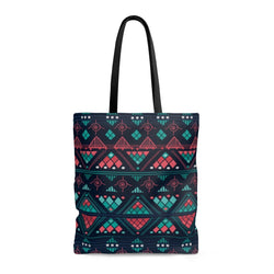 Pink & Blue Mosaic Tote Bags Large