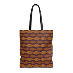 Purple Ripple Tote Bags Large