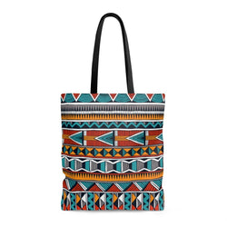 Triangle Tribal Tote Bags Large