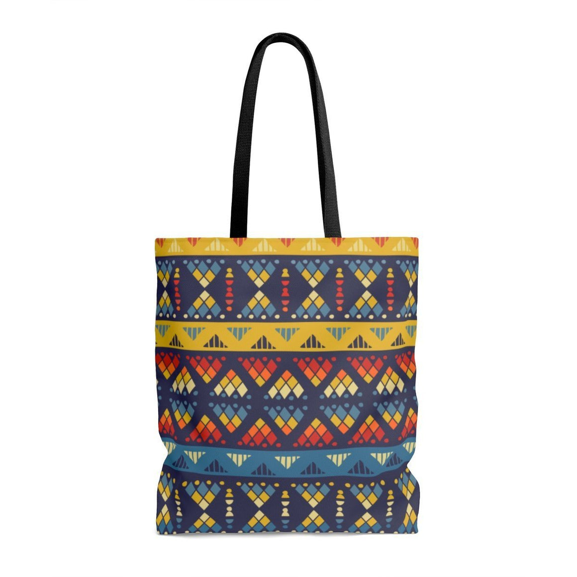 Yellow & Blue Mosaic Tote Bags Large