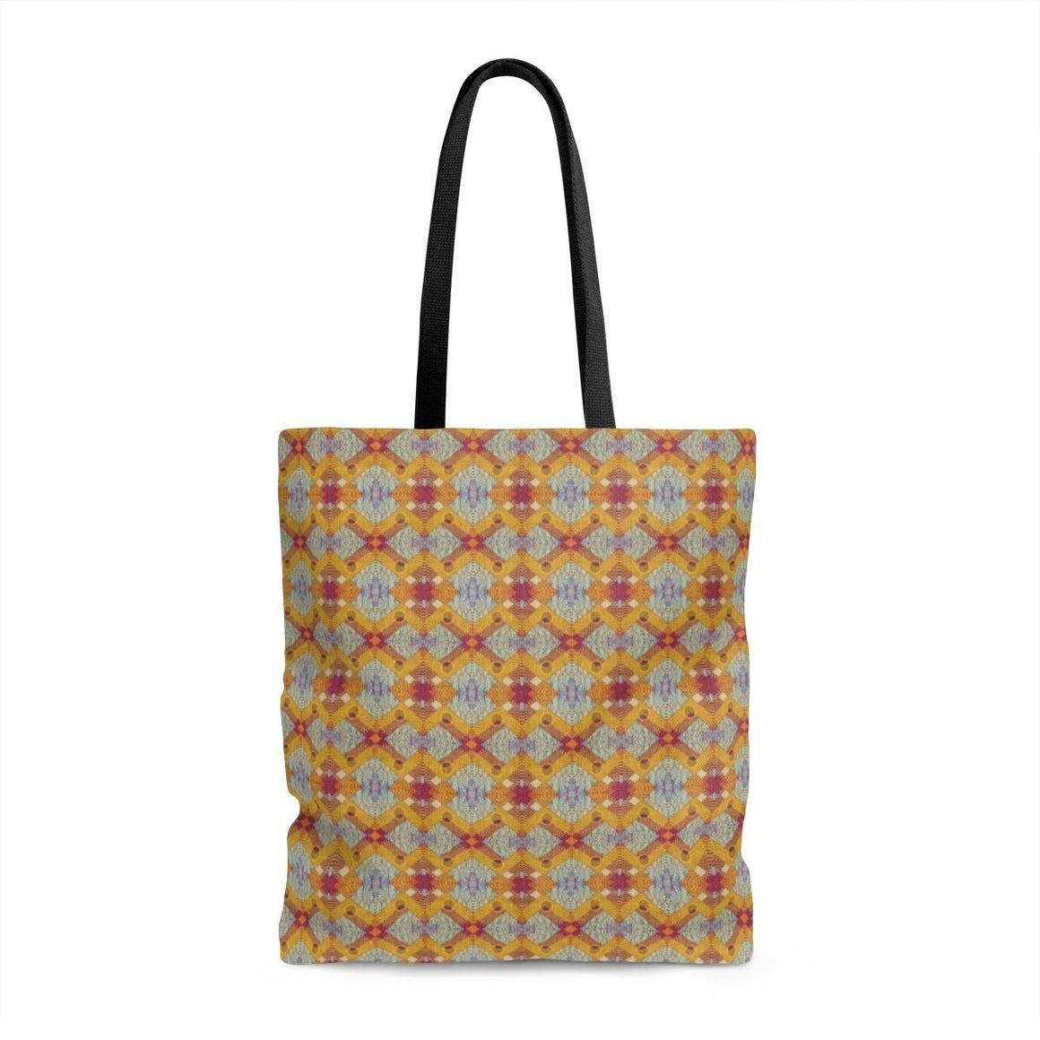 Yellow Diamond Tote Bags Large